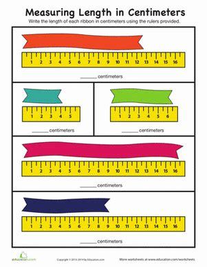 measurement worksheets using centimeters measuring length in centimeters worksheet education com