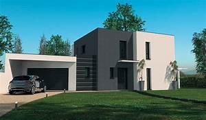 maison contemporaine a etage 160 m2 4 chambres With plan de maison 120m2 12 constructeur maison toit plat loire maisons ideales