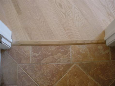 hardwood to tile transition home
