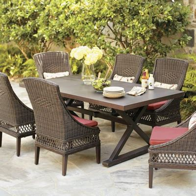 home depot 7 patio set wicker patio furniture sets the home depot