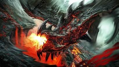 Dragon Wallpapers Fire Fantasy Lava Desktop Dragons
