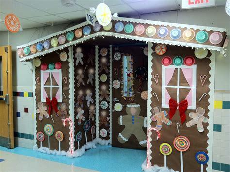 office door gingerbread house office door decorations