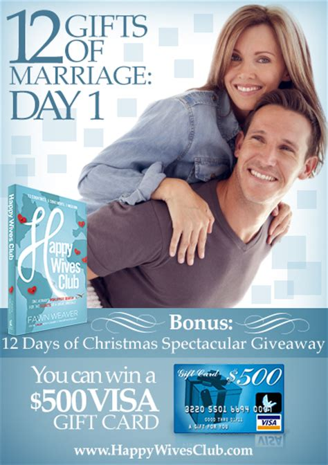 12 Gifts Of Marriage Day 1 {bonus 12 Days Of Christmas Giveaway}
