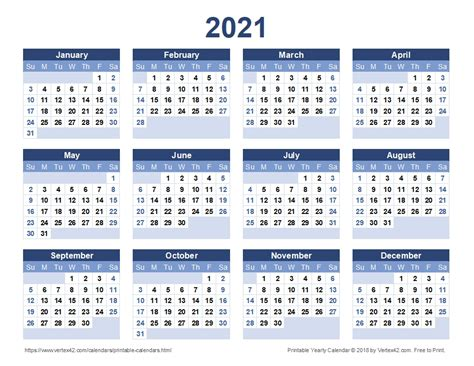 yearly calendar printable  calendar design