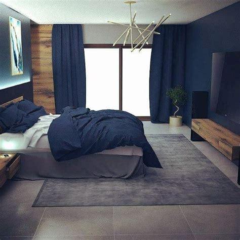 Bedroom Bench Navy Blue by Top 50 Best Navy Blue Bedroom Design Ideas Calming Wall
