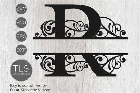 letter  split monogram svg split monogram svg letter  cricut  tlsdigitaldesigns