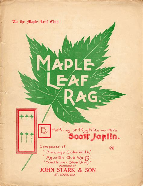 Bellow is only partial preview of maple leaf rag sheet music, we give you 6 pages music notes preview that you can try for free. Maple Leaf Rag   Castle Ragtime Company