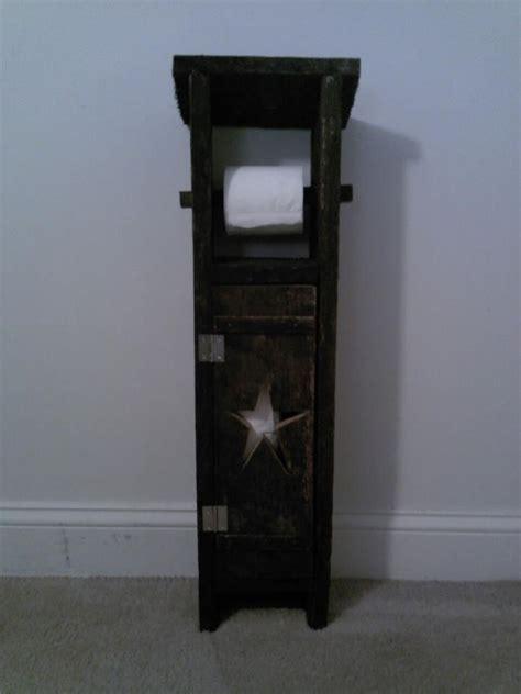 country toilet paper holder primitive decorating wood toilet paper holder