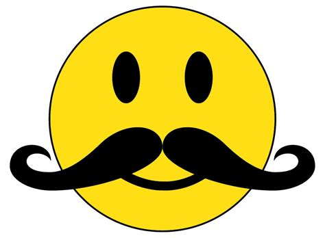 Free Smiley Face With Mustache And Thumbs Up, Download