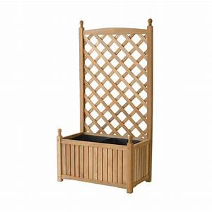 DMC Lexington 28 in x 16 in Natural Wood Planter with