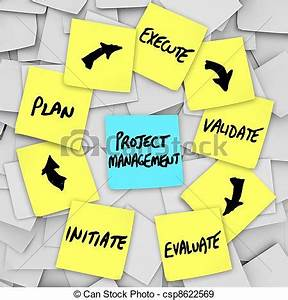 Stock Illustration of Project Management Workflow Diagram ...
