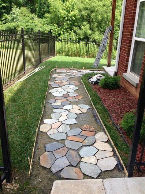 Backyard Sidewalk Ideas by 48 Best Walkways Images On Backyard Ideas