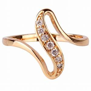 2016 cheap women finger rings 18k gold plated engagement With cheap ladies wedding rings