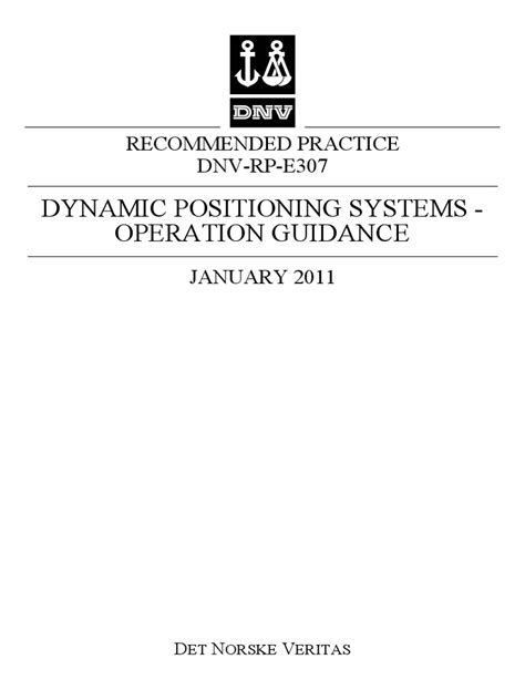 DNV Rules for DSV ON DIVING OPERATION   Technology   Business