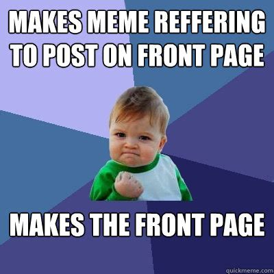 Meme Captioner - makes meme reffering to post on front page makes the front