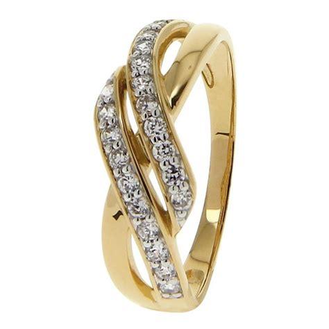 bague de mariage femme or bague or 9 carats bague or jaune et blanc 375 zirconium