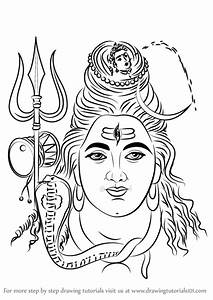 Learn How to Draw Lord Shiva Face (Hinduism) Step by Step ...