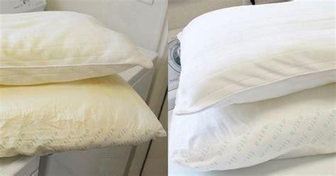 vergilbte daunenkissen richtig waschen