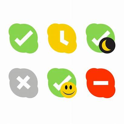 Skype Status Clipart Icons Icon Clip Clipground
