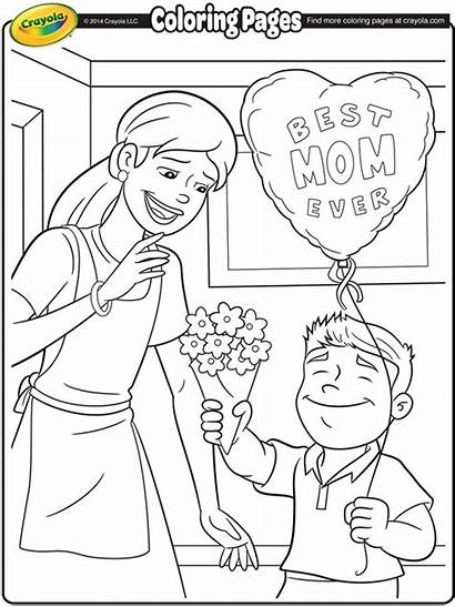 Coloring Pages Mothers Crayola Mother Mom Printable