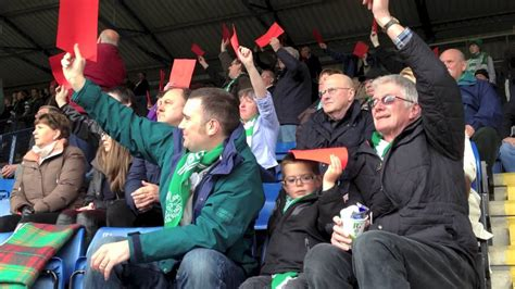 Northwich Vics 1874 Red Card Protest - YouTube
