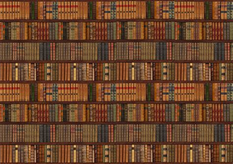 Bookcase Wall Paper by Library Bookcase Shelf Shelves Books Photo Wallpaper