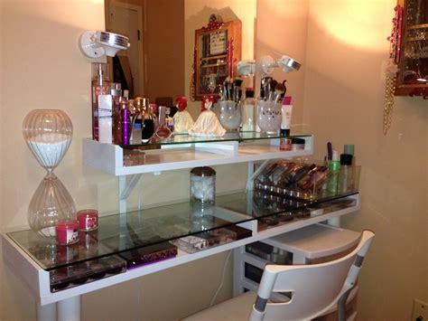Glass Vanity Makeup Table by 5 Inspiring Diy Ikea Makeup Vanity Designs Atzine