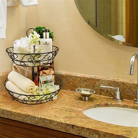 tier countertop basket holder decorative bowl stand sorbus