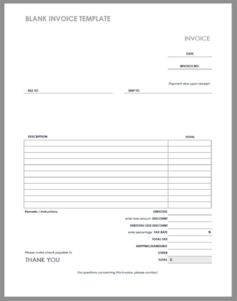 blank invoice template   ugly truth  blank