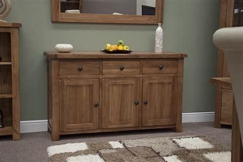 Tilson Solid Rustic Oak Dining Living Room Furniture Large
