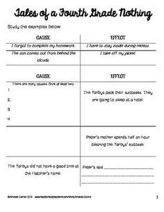 tales of a fourth grade nothing worksheets activities literature circles fourth grade