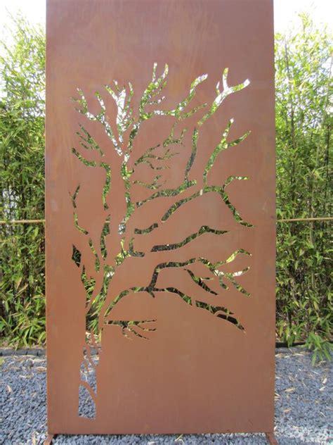Metall Sichtschutz Für Garten by Garten Im Quadrat Sichtschutz