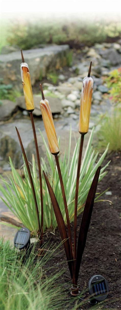 cattail solar lights new 3 solar cattail spike light yard stake water garden