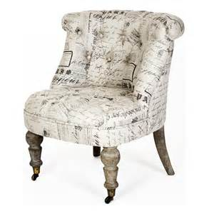 amelie country grey literary script tufted accent chair kathy kuo home