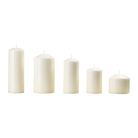 Candele Ikea by Fenomen Unscented Block Candle Set Of 5 Ikea