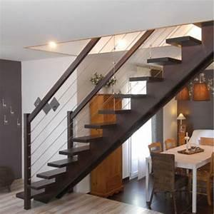 Escalier Droit Bois : escalier bois escalie bois m tal d couvrez 20 escaliers ~ Premium-room.com Idées de Décoration