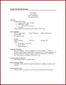 college scholarship resume objective exles doc scholarship resume summary