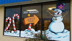 Holiday, Window, Painting, U2013, Goodwill, Industries, U2013, Free, Sky, Studios, Professional, Mural, Painting