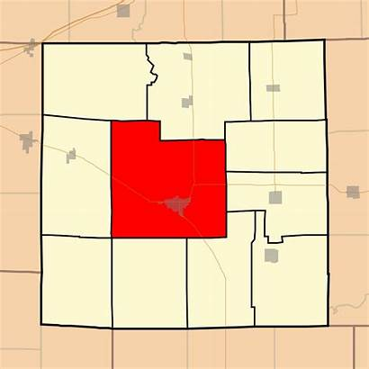 Jasper County Illinois Township Wade Map Svg