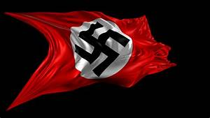 Swastika Nazi flag- 3D animation of the Swastika Nazi flag ...