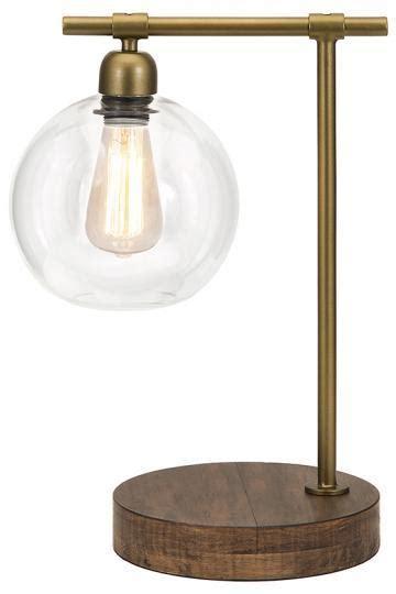 glass globe table l brass rod glass globe table l