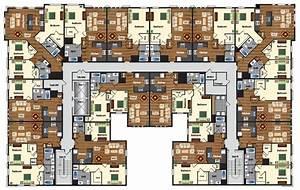 Apartment, Complex, Random, Floor, Plan, Small