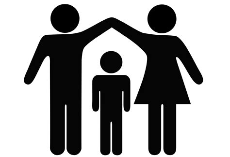 single parent family clipart black and white 15 things only children can understand