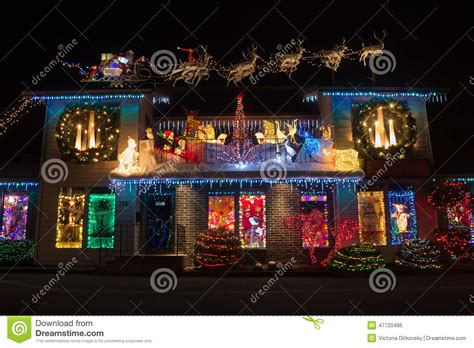 christmas lights in christmas village salem oregon stock