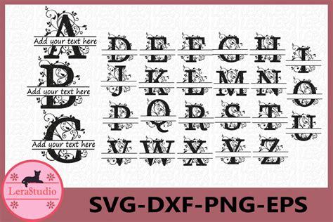alphabet svg split letter monogram alphabet split monogram