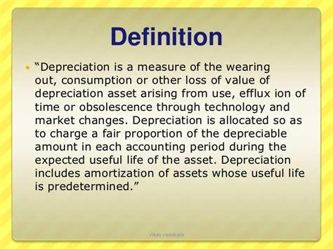 depreciation of fixed asset depreciation
