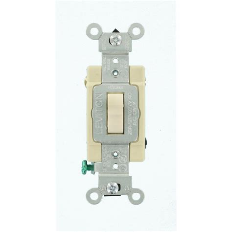 Leviton Amp Way Toggle Switch Light Almond Csb