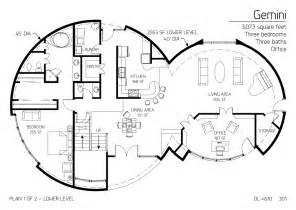 multi level house floor plans floor plan dl 4510 monolithic dome institute