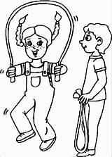 Coloring Rope Jump Jumping Nice Wecoloringpage Adults Gambar Mewarnai Popular Untuk Coloringhome sketch template