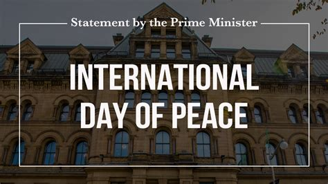 Statement by the Prime Minister on International Day of ...
